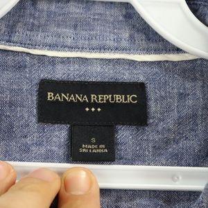 Banana Republic Shirts - Banana Republic Mens Small Chambray Linen Shirt